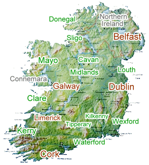 Map Of Southern Ireland Cities.Some Of The Best Places To Stay In Ireland Authentic Irish